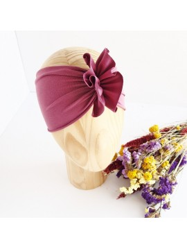NITKI KID'S FASHION OPASKA TURBAN  SMOKE LILAC