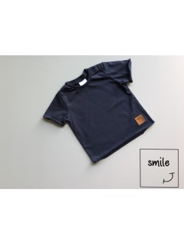 SMILE KIDS T-SHIRT GRANAT