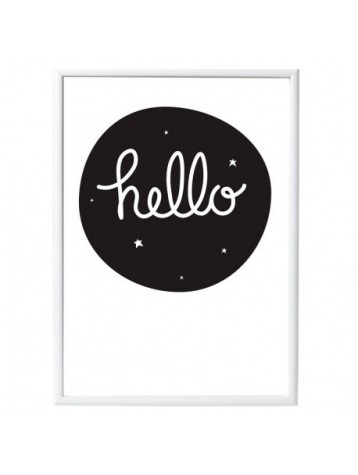 "A LITTLE LOVELY COMPANY PLAKAT ""HELLO"""