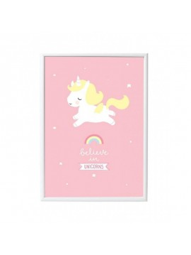 "A LITTLE LOVELY COMPANY PLAKAT ""UNICORN"""