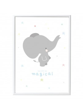 "A LITTLE LOVELY COMPANY PLAKAT ""ELEPHANT"""