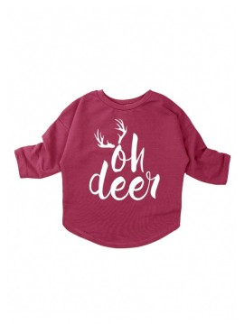 "I LOVE MILK BLUZA BORDO ""OH DEER"""